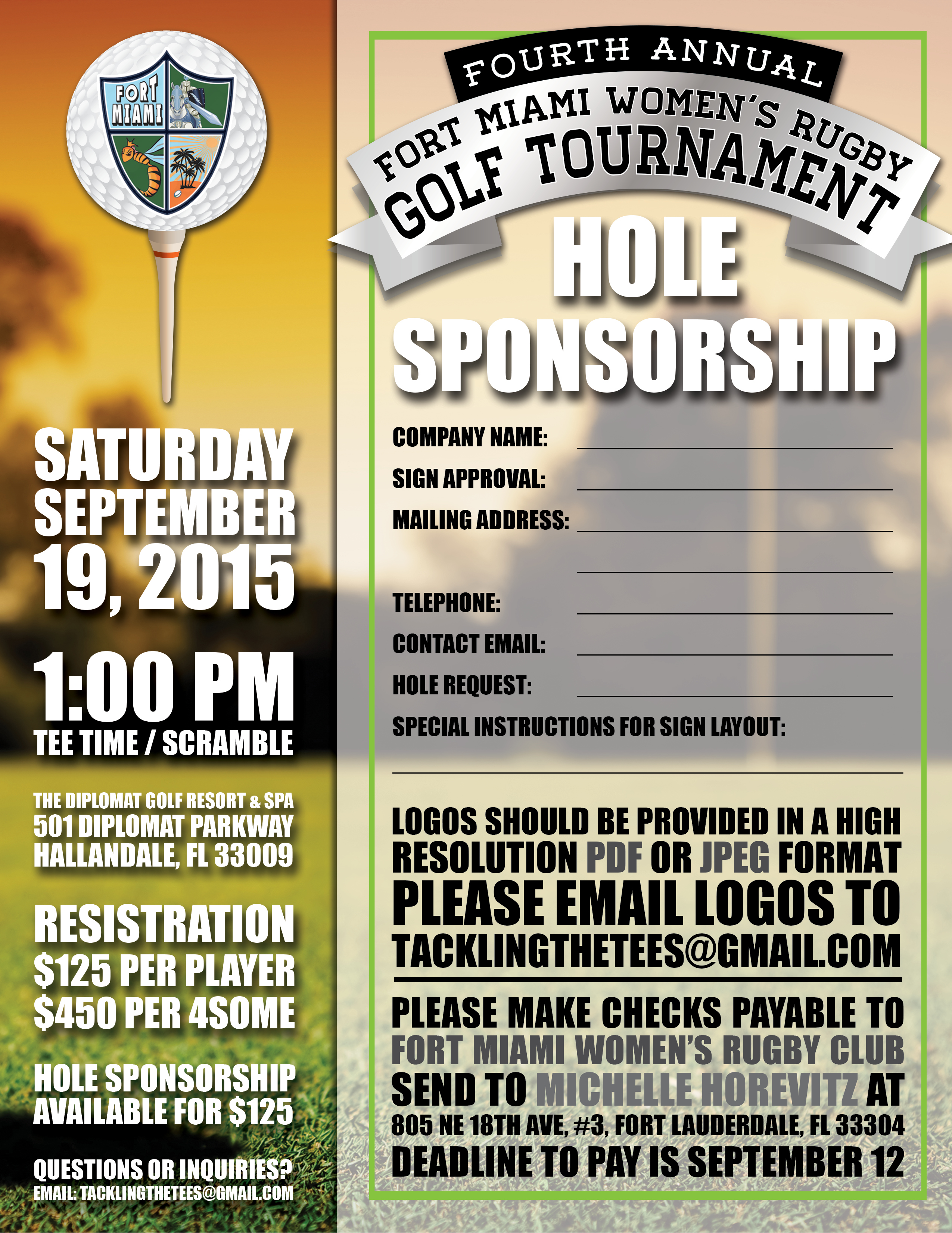 Golf tournament fort miami hole sponsorship form thecheapjerseys Image collections